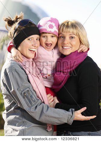 Zeit mit der Familie im Park