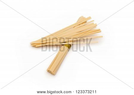 asian local cuisine noodles udon packed on white background
