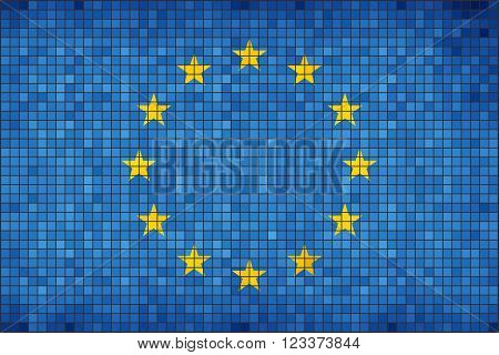 Flag of Europe - Illustration, 