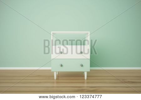 Green Bedside Table