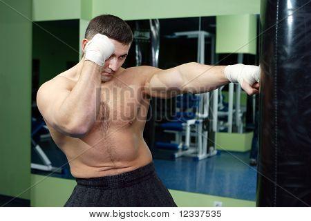 hombres de boxeo