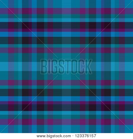 abstract vector tartan seamless - blue and purple
