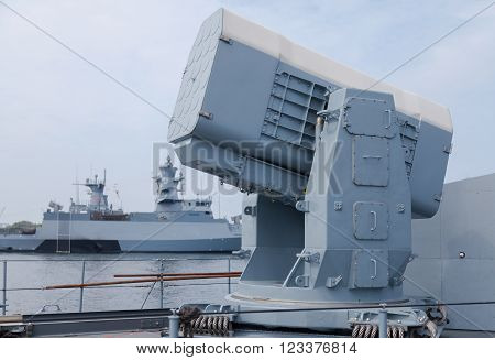 rolling airframe missile system on German navy corvette
