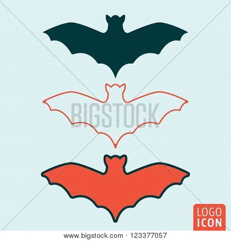 Bat icon. Bat symbol. Bats icon isolated. Vector illustration