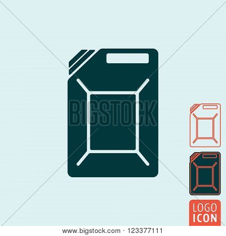 Jerrycan icon. Jerrycan symbol. Fuel can icon isolated. Vector illustration