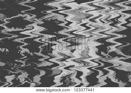 Abstract background. Ink marble texture.  Interference. With the effect of film grain