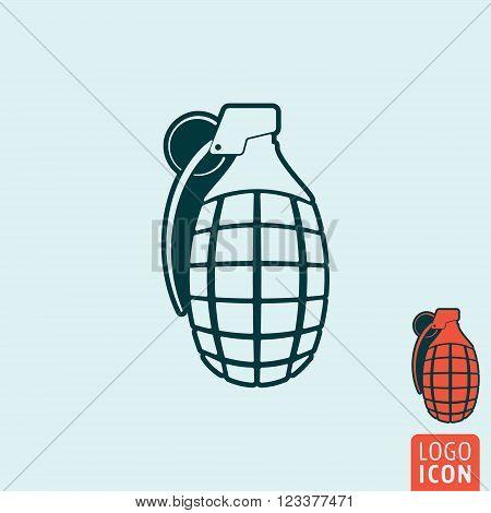 Granade icon. Granade symbol. Grenade icon isolated. Vector illustration