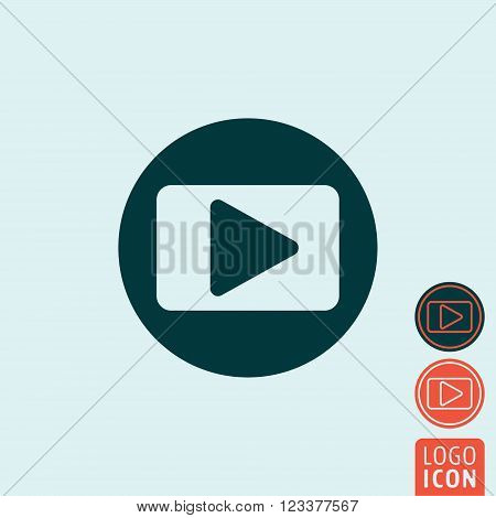 Play icon. Play symbol. Play button icon isolated. Vector illustration