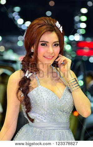NONTHABURI - MARCH 26 : Unidentified model on display at The 37th Bangkok International Thailand Motor Show 2016 on March 26, 2016 Nonthaburi, Thailand.