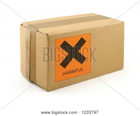 Cardboard Box With Harmful Content