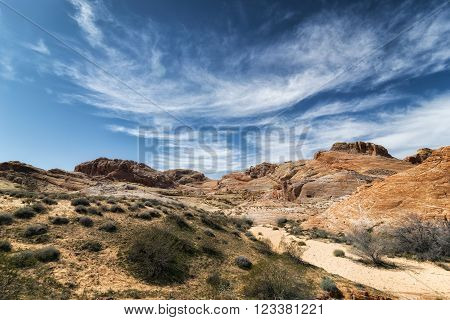 Landscape At Valley Of The Fire State Park, California