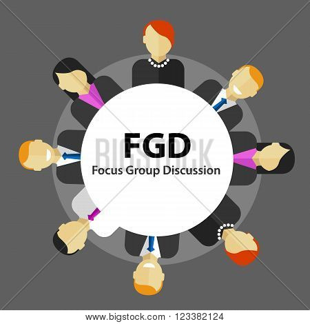 FGD focus group discussion get customer feedback marketing market survey research vector