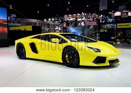Lamborghini car at Bangkok Showroom on 24 March 2016.