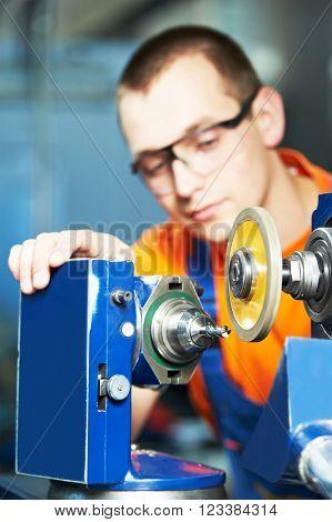 industrial worker at tool metalwork