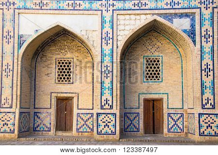 Ulughbek Madrassah - architectural monuments of Bukhara Uzbekistan. The old city center of Bukhara Uzbekistan March 2016