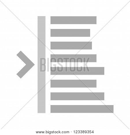 Text, edit, left icon vector image. Can also be used for text editing. Suitable for use on web apps, mobile apps and print media.