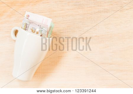 Money In Glass ( Concept : Price Of A Drink  )