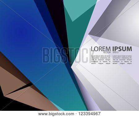 eps10 vector geometric concept material corporate design