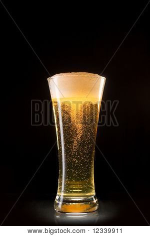 Beer Glass With Bubbles Whirl
