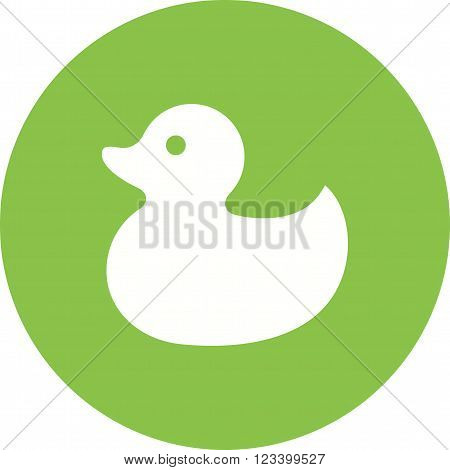 Duck, rubber, toy icon vector image.Can also be used for baby. Suitable for mobile apps, web apps and print media.
