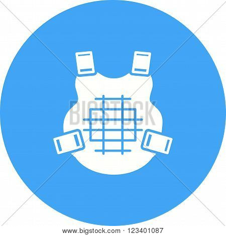 Bulletproof, bullet, equipment icon vector image. Can also be used for games entertainment. Suitable for use on web apps, mobile apps and print media.