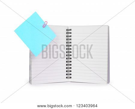 Note book isolated on a white background .