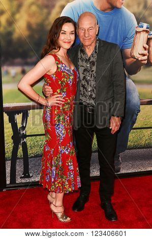 NEW YORK-JUN 24: Sunny Ozell (L) and Patrick Stewart attend the 'Ted 2' world premiere at the Ziegfeld Theatre on June 24, 2015 in New York City.