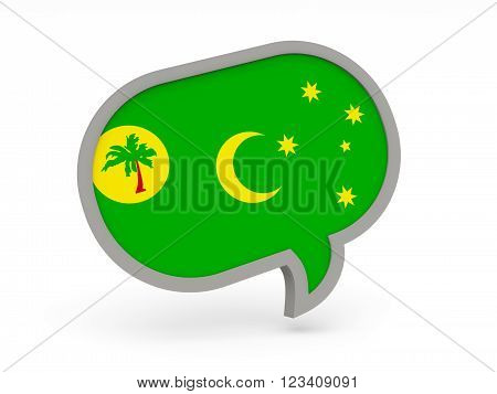 Chat Icon With Flag Of Cocos Islands