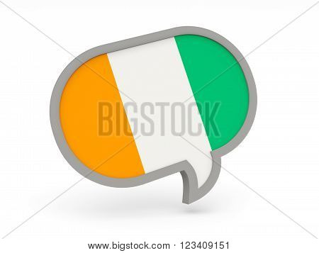 Chat Icon With Flag Of Cote D Ivoire