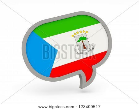Chat Icon With Flag Of Equatorial Guinea