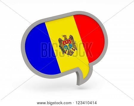 Chat Icon With Flag Of Moldova