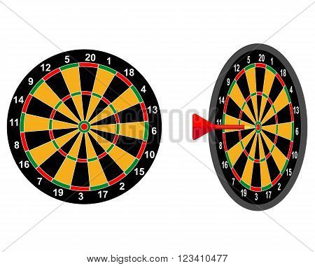 darts game dart target with two digits