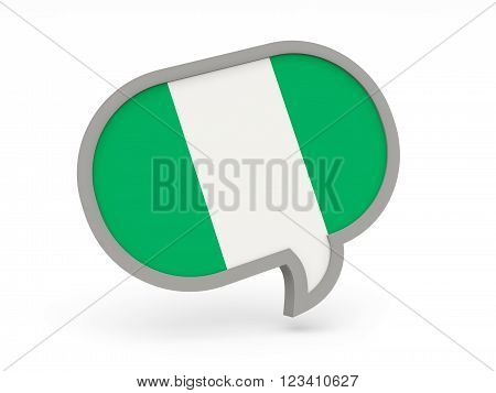Chat Icon With Flag Of Nigeria