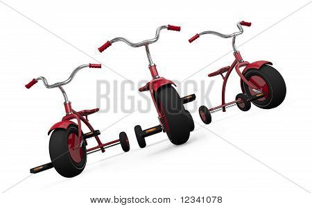 Three tricycles