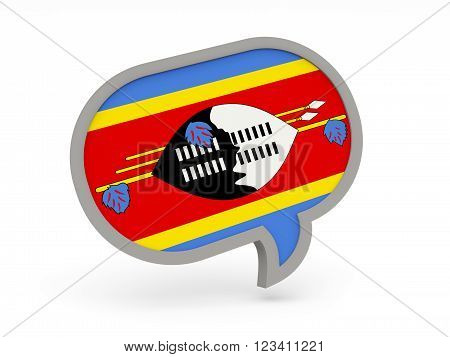 Chat Icon With Flag Of Swaziland