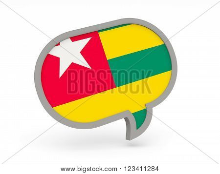 Chat Icon With Flag Of Togo