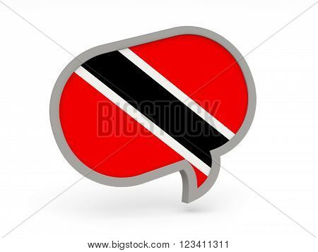 Chat Icon With Flag Of Trinidad And Tobago