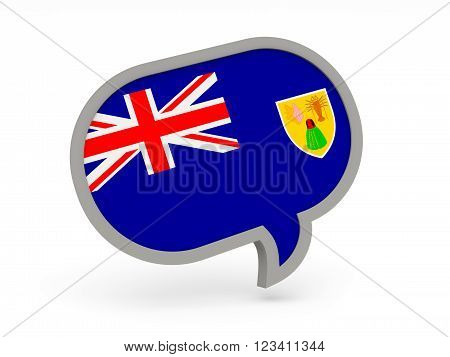 Chat Icon With Flag Of Turks And Caicos Islands