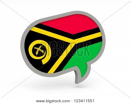 Chat Icon With Flag Of Vanuatu