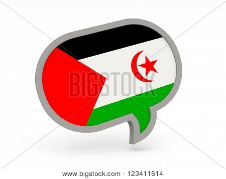 Chat Icon With Flag Of Western Sahara