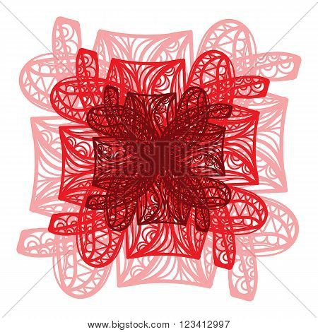 Bright Red Vector Flower