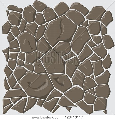 Brown slate stone seamless background. Vector illustration  game texture