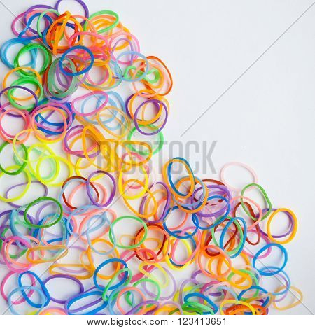 Colorful Set Of Rubber Bands For Hair