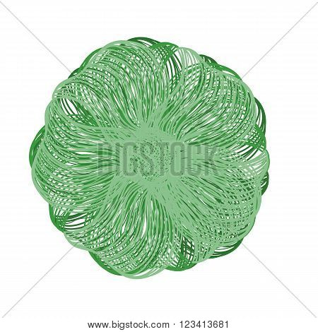 Green Vector Flower