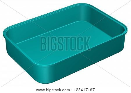 Kitchen pan, isolated on white background. 3D render.