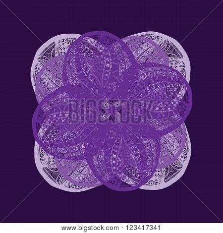 Bright Violet Vector Flower