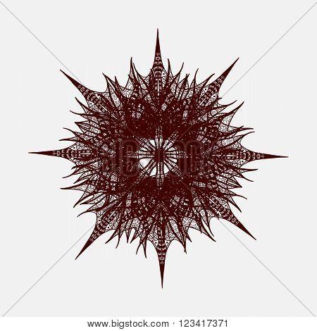 Brown Vector Flower