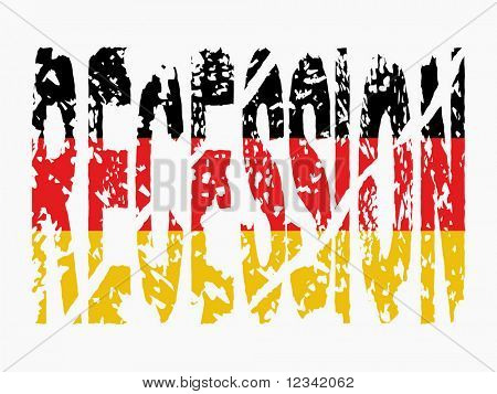 grunge Recession text with German flag illustration