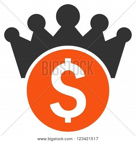 Financial Power vector icon. Style is bicolor flat symbol, orange and gray colors, white background.