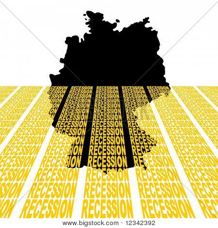 Deutschland-Karte, die Versenkung in Rezession Text illustration